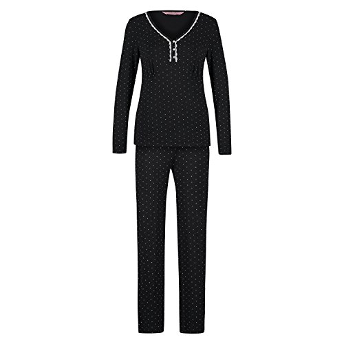 hunkemoller-damen-pyjama-pam-dot-115594-schwarz-m