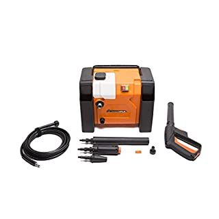 Yard Force135Bar Compact and Portable 1800W Pressure Washer with Accessories, Multicolor