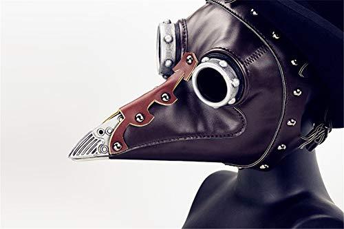 APJJ Steampunk Halloween Pest Schnabel Doctor Maske -