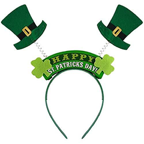 VJGOAL St. Patrick's Day Hut, Damen Herren Unisex Baby Party Performer Grün Kopf Schnalle Stirnband Zubehör Familie Freund ()