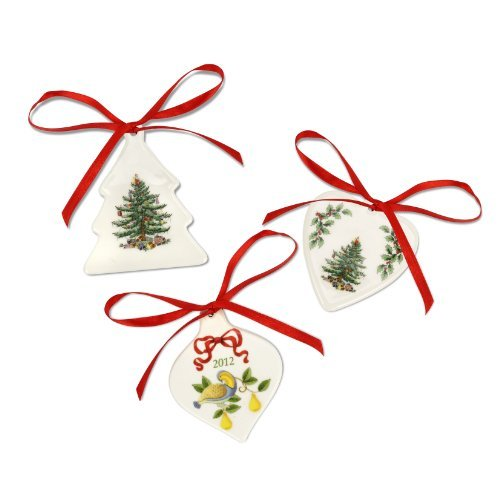 Spode Christmas Ornamente (Spode Christmas Tree Ornaments, Set of 3 by Spode)