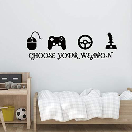 nkfrjz Gamer Vinyl Wall Stickers ps4 Videogioco Playroom Joystick Stickers Murali Camera da Letto Gioco Zona Decor AER Murale della Decalcomania Ragazzi Regali 57