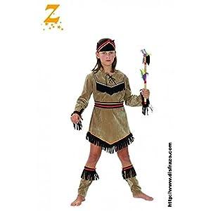 Fyasa 706081-t01Indian disfraz de niña, tamaño mediano