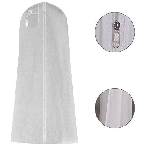 AZX 50 * 40 * 170cm Weiß Hängende Kleidersack Hochzeitskleid Abdeckung Staubdichte Brautkleid...