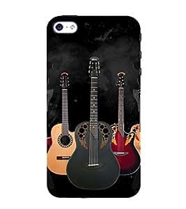 99Sublimation Guitar 3D Hard Polycarbonate Back Case Cover for Apple iPhone SE