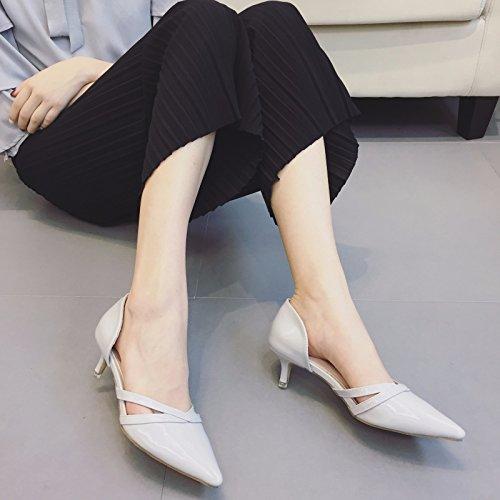 WYMBS femmes chaussures plates occasionnels chaussures de travail confortables talons plats White