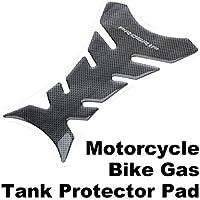 Vanpower - Adhesivo para depósito de motocicleta, fibra de carbono, color negro