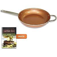 Starlyf® by JEWADO starlyf® Copper Pan – Sartén de Cobre de Cerámica con Revestimiento