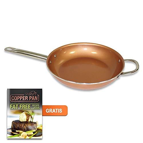 Starlyf® by JEWADO starlyf® Copper Pan–Sartén de Cobre de Cerámica con Revestimiento Antiadherente Diámetro 20cm–Original de TV de Publicidad