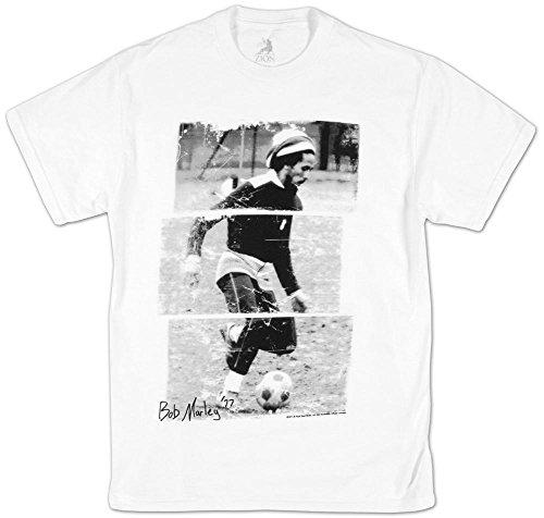 Bob Marley - - Soccer 77 Herren T-Shirt in Weiß White