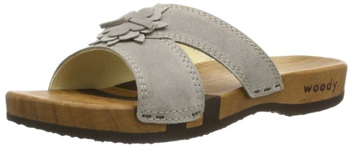 Woody  Anika, sabots et mules femme Gris - Grau (Velour Taupe)