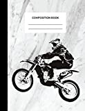 Composition Book: A Motocross, Dirt Bike, College Ruled Notebook for Dirt Bike Riders