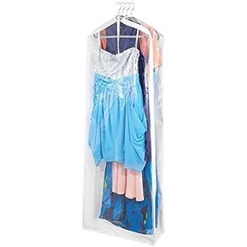 14f3748b983a7 mDesign Gruccia per vestiti con sacco protettivo – Sacca porta abiti per  proteggere vestiti