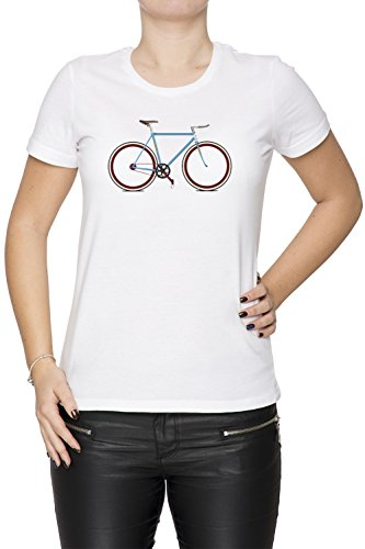 Fahrrad Damen T-Shirt Rundhals Weiß Kurzarm Größe XS Women's White X-Small Size XS -