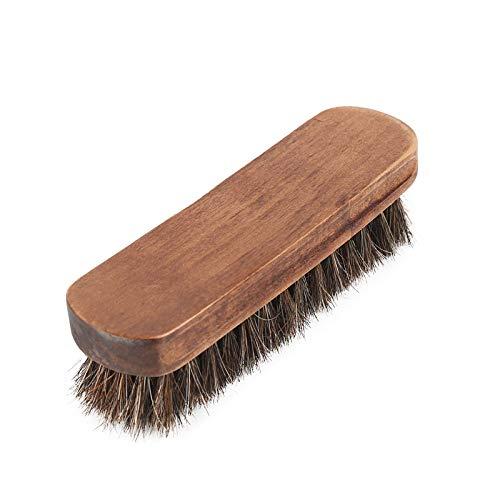 Myzixuan Weichen Schuh Bürste Schuhputzer Mahagoni Pinsel Pferd Mähne, pelzigen Schuhe Pinsel reinigen Bürste Schuhe entfernen Staub Pinsel Schuhbürste Soft Haare -