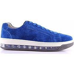 Prada Scarpe Sneakers Uomo 4E2701 Scamosciato Cobalto Blu Suola Air Comfort New