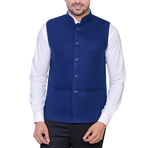 Masculine Affair Royal Blue Nehru Jacket