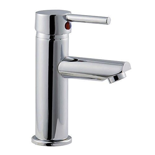 Trueshopping Bathroom Single Lever Mono Basin Mixer Tap High Quality Brass with Modern Chrome Finish by Trueshopping