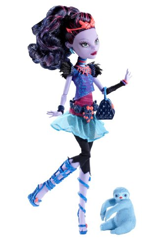 Image of Monster High Toy - Jane Boolittle Deluxe Fashion Doll - Daughter of the Mad Scientist - Pet Sloth