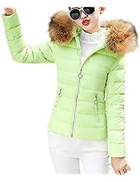 d6b8124f1 TUDUZ Women Short Coat New Quilted Winter Warm Parka Outerwear Puffer Faux  Fur Collar Hooded Coat