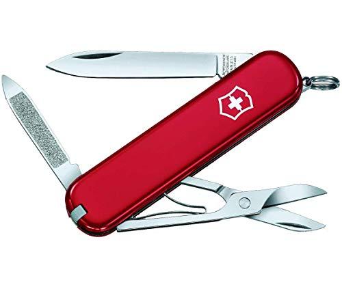 Victorinox Ambassador Klein Taschenmesser, 7 Funktionen, Nagelreiniger, Nagelfeile, rot