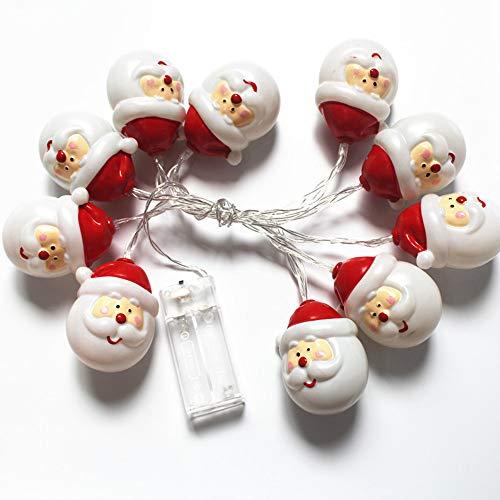 (Wawer Weihnachten 10 LED Schnur-Licht Schneemann Weihnachtsmann Fairy Lichterkette Kinder Nachtlicht Party Home Decor (Mehrfarbig))