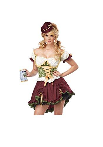 Erwachsene Biergarten -Mädchen-Kostüm (Medium)