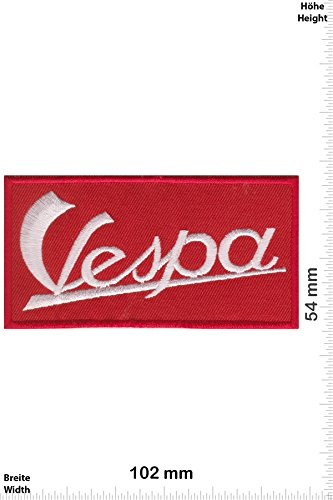 Patch - Vespa - rot - Roller - Motorrad - Motorrad - Vespa - Aufnäher - zum aufbügeln - Iron On Roller-patch