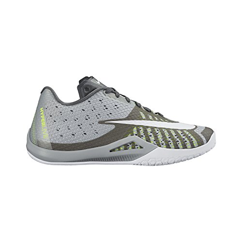 Nike Hyperlive Chaussures de Basket Homme Gris / Blanco (Wlf Gry / White-Pr Pltnm-Drk Gry)