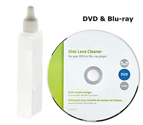 Eurosell Profi Linsenreiniger für DVD Blu-ray-Player Reinigungs DVD CD Laufwerk CD-ROM Linsen Reiniger Reinigung Reinigungsset