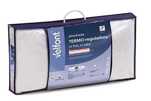 Velfont Almohada Termo-reguladora con Doble Funda de Tejido Termo-regulador 100% algodón