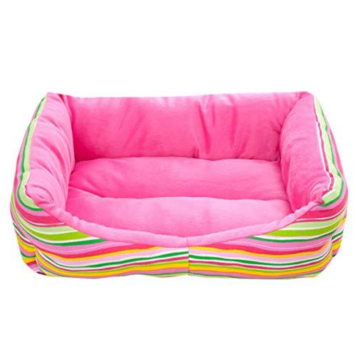 AMURAO Winter gestreifte Betten für große Hunde waschbar Pet House weiche warme Hund Matten Pad Frohe Weihnachten Dekor -