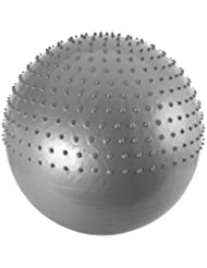 FA Sports Ergonomie Wellness Massage Ball SET mit Handpumpe, silber, 65 cm