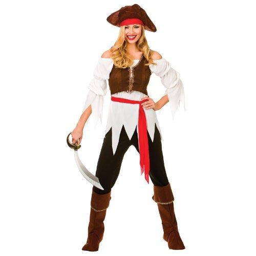 New Pirate Shipmate - Adult Ladies Costume Lady: S (UK:10-12)