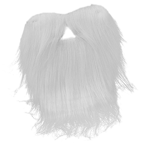 Blesiya Zwergenbart Wichtelbart Holzfäller Bart in Weiß