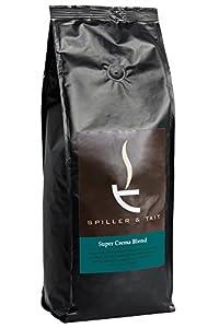 Spiller & Tait Super Crema Blend Espresso Coffee Beans 1kg Bag - Fresh Roasted - Perfect for Espresso Machines