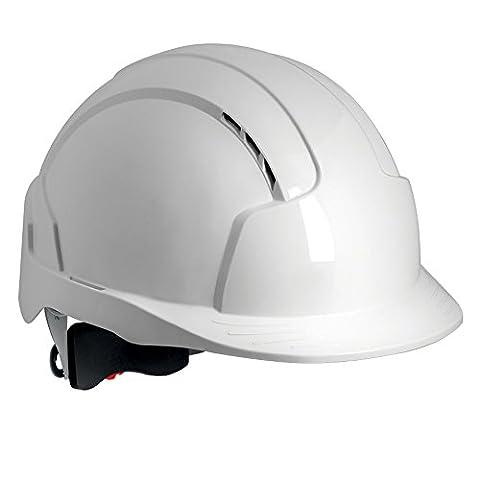 JSP EVOLite Vented Standard Peak Revolution Wheel Ratchet and 3D Adjustment System, EN397, White