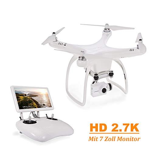 UPAIR One 2,7K Kamera Drohne, Drohne mit GPS und Kamera, Live-Videokamera Quadcopter, FPV live Übertragung, 2,4GHz Fernsteuerung, Auto-Return Funktion, Headless Modus