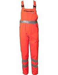 Planam Latzhose Warnschutz, Größe 29, 1 Stück, orange, 2021029