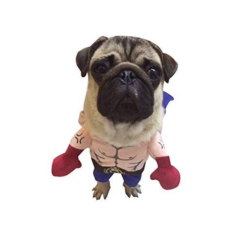 AIUIN Haustier Hund Katze Halloween Kostüm Arzt Krankenschwester Kostüm Hund Jeans Kleidung Katze Lustiges Kleid Outfit Uniform (S,Boxer)