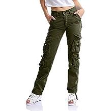 d4a5addd224 OCHENTA Womens Combat Casual Cargo Ocho Bolsillo Militar Ejército Pantalones  de Mujer Etiqueta ...