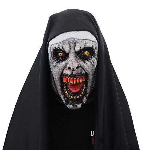 Circlefly Scary Halloween Nonne Maske Thriller Gesicht Streich Party Supplies Frau Maske