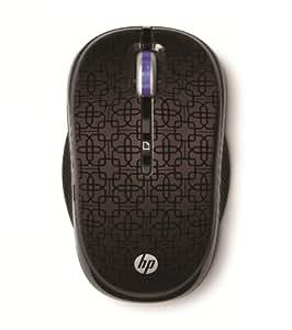 HP WX407 Souris Optique sans-fil 2,4 GHz Noir Cerise