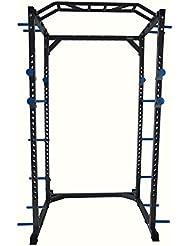 Power Rack y jaula de sentadillas y dominadas resistente para tu gimnasio en casa de la marca Total Body Base.