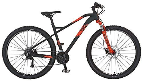"REX Unisex- Erwachsene Graveler 9.5 MTB 29\"" Mountainbike, schwarz matt, RH 48 cm"