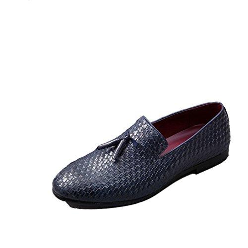 XIGUAFR Homme Chaussure en Cuir Simple Printemps Été Chaussure de Conduite Casual Comfortable