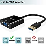 FOINNEX Adattatore USB a VGA Convertitore, Connettore/Connettori USB 3.0 to VGA Video 1080P per Surface,HP,Lenovo,dell,PC,Portatile su TV,Monitor,Solo Supporto Windows 10/8.1/8/7(Non XP/Vista/Mac OS)