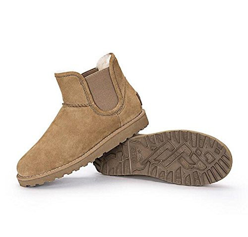 Round Top caviglia scarponi da neve piatta stivali di lana autunno e stivali da donna invernali chestnut