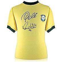 exclusivememorabilia.com Camisa Brasil firmada por Pelé y Ronaldo Luis Nazário ...
