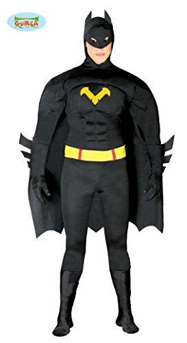 Ideen Schwarz Kostüm Superheld (schwarzer Superheld Karneval Fasching Kostüm für Herren Fledermaus schwarz M-XL,)